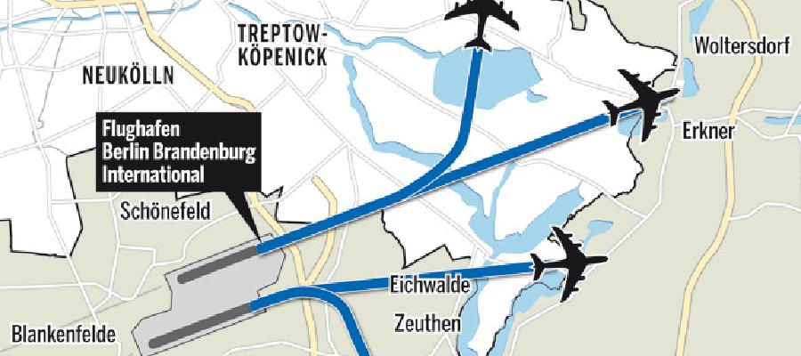 Letzte Woche hat die Deutsche Flugsicherung (DFS) ihre Entscheidung für die  Flugrouten des neuen Flughafen in Schönefeld vorgestellt. Seitdem erreichen mich immer wieder Fragen von Bürgern aus meinem Wahlkreis. Was heißen die vorgestellten Routen für Mahlsdorf und Kaulsdorf? Die Sorge rührt daher, dass besonders das Gebiet am Müggelsee sowie Friedrichshagen und Rahnsdorf nach den Plänen nun täglich von mindestens 122 Passagiermaschinen planmäßig überflogen werden soll. Im Vergleich zu den im letzten September vorgestellten Flugrouten eine deutliche Verschlechterung.