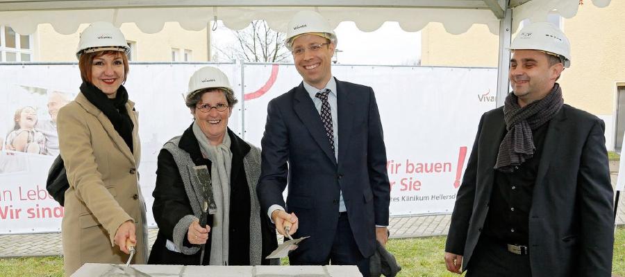 Grundsteinlegung am Krankenhaus Kaulsdorf
