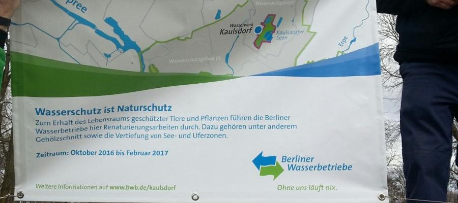 Neuausweisung des Wasserschutzgebiets Kaulsdorf