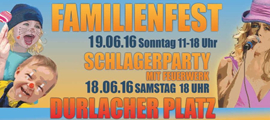 17. Familienfest auf dem Durlacher Platz am 19. Juni 2016