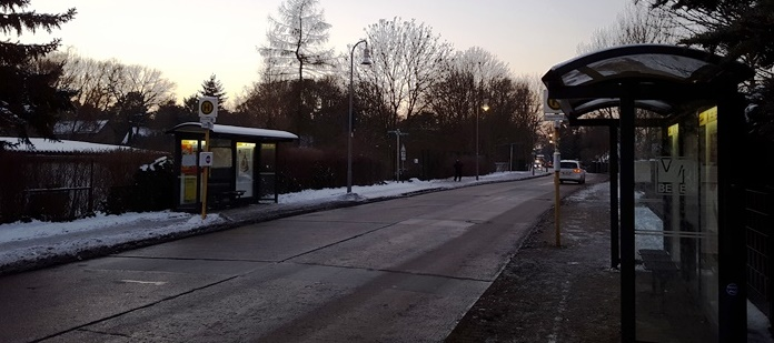 Bushaltestelle des X69 – Lammersdorfer Weg