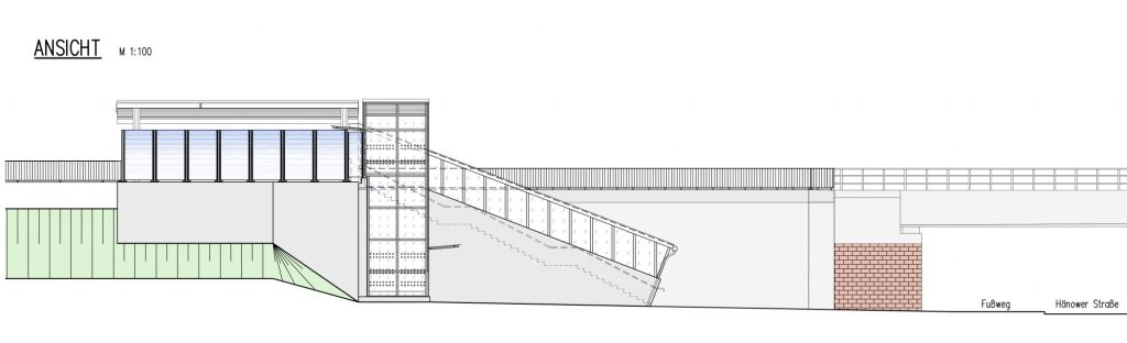 Skizze DB Bahnsteig Mahlsdorf
