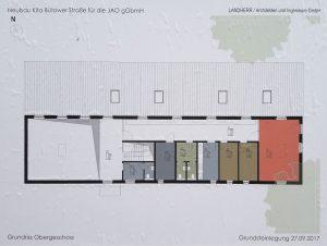 Grundriss Obergeschoss, LANDHERR / Architekten und Ingenieure GmbH