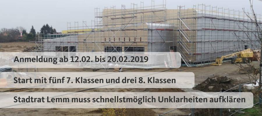 Verunsicherung vor Start der neuen Mahlsdorfer Oberschule