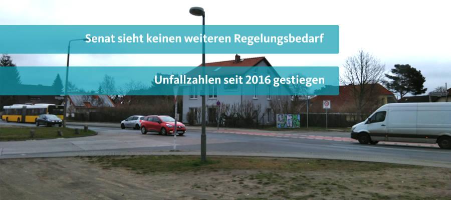 Seit 2016 sind die Unfallzahlen an der Kreuzung Chemnitzer Straß/ Heerstraße angestiegen. Dies listet der Senat in einer aktuellen Anfrage von mir auf. Insgesamt gab es seit 2015 36 Unfälle und 10 Verunglückte. Ich spreche mich daher weiterhin für eine bessere Absicherung der Kreuzung durch eine Ampel aus.