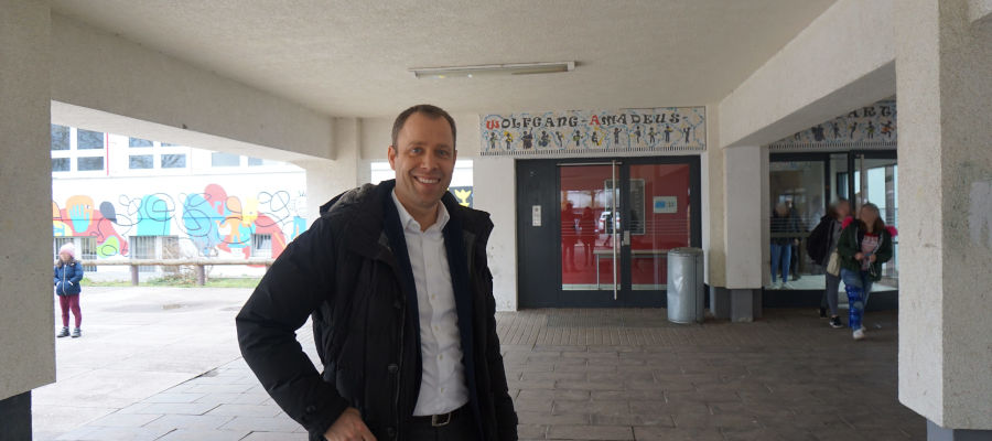 Gespräch mit Schulleitung Mozartschule zur Auslagerung