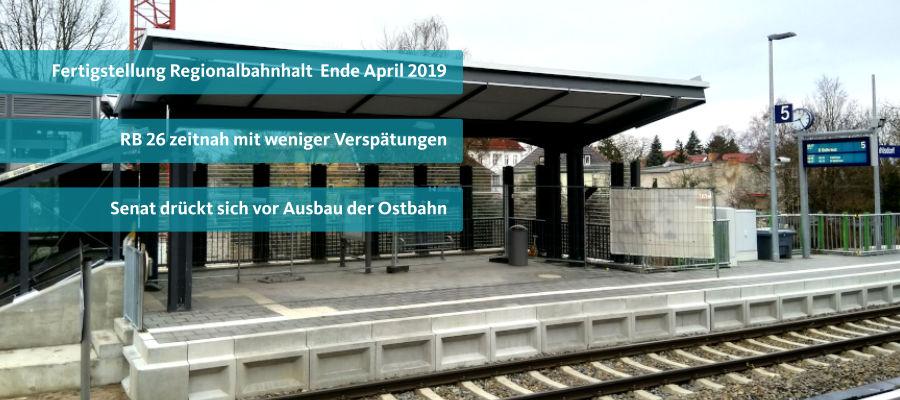 Fertigstellung Regionalbahnhalt Ende April 2019 ?!