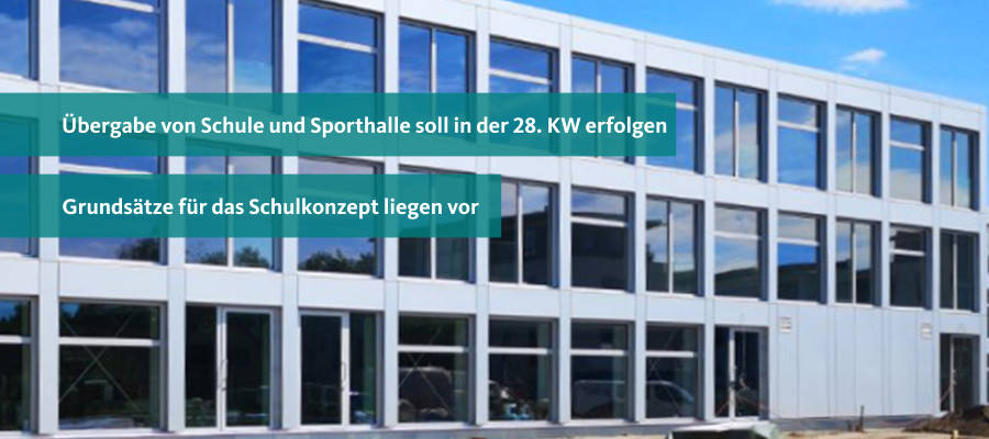 Aktueller Stand des Starts der neuen Integrierten Sekundarschule Mahlsdorf