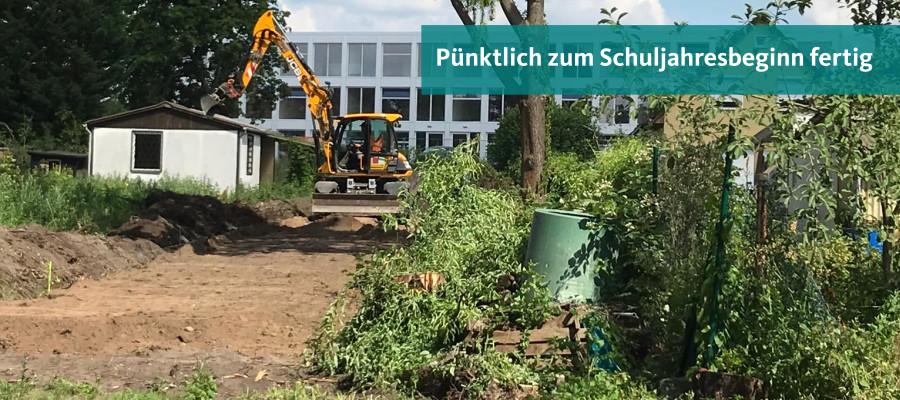 Baubeginn für neue Wegeverbindungen zur Oberschule