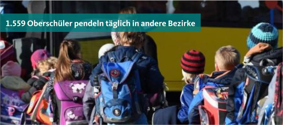 So sind Schüler der Sekundarstufe I aus Marzahn-Hellersdorf auf andere Bezirke verteilt