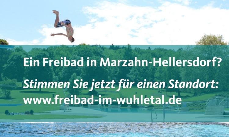 Marzahner und Hellersdorfer können aktuell ihr Votum für einen Freibadstandort abgeben. Dafür ist eine Beteiligungsplattform eingerichtet.