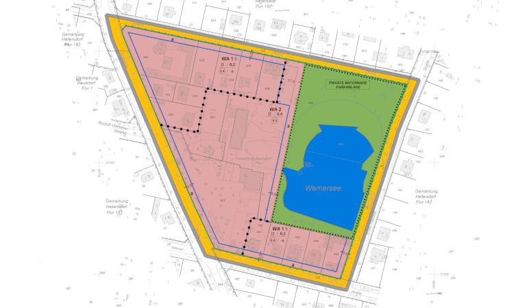 Bei der Entwicklung des Wernerseeareals geht es voran. Der Bebauungsplan steht vor der Beschlussfassung und in diesem Jahr soll der Bauantrag eingereicht werden.