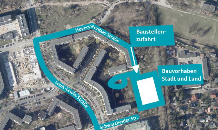 Die Einrichtung einer Baustellenzufahrt in der Hoyerswerdaer Straße führte zum Wegfall vieler Parkplätze in der Straße, obwohl bereits vor dieser Maßnahme ein hoher Parkdruck in diesem Gebiet herrschte. Ich setze mich hier für eine andere Lösung ein.