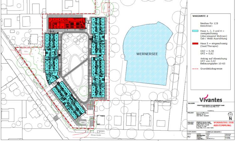 Vivantes hat erste Vorplanungen für den Bau einer Pflegeeinrichtung auf dem Wernerseeareal vorgestellt.