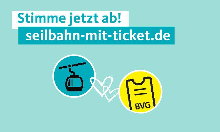 Seilbahn mit dem BVG-Ticket